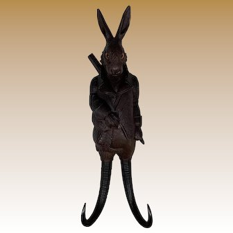 Black Forest Rabbit Crop Hook with Music Box