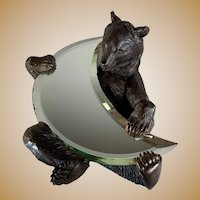 Black Forest Bear Crescent Mirror
