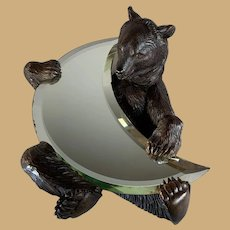 Black Forest Bear Crescent Mirror