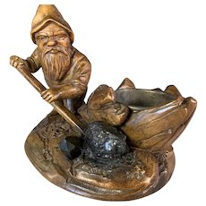 Black Forest Gnome Stoking a Kettle Fire
