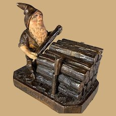 Black Forest Gnome Logger Inkwell