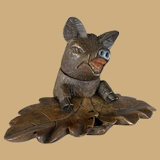 Black Forest Boar Inkwell