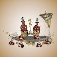 Baccarat Venetian Gondola Liquor Set