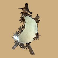 Black Forest Bird Crescent Mirror