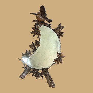 Black Forest Bird Crescent Mirror