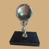 Swedish Nickel Silver Putti Pocket Watch Holder