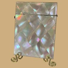 French Mother-of-Pearl Calling Card Case