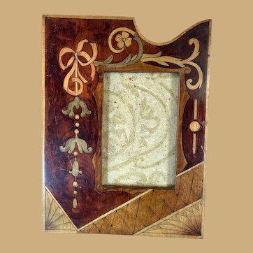 Vintage Painted Art Nouveau Photo Frame