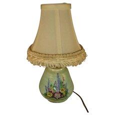 Crown Devon Pottery Lamp - c1940