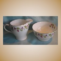 Shelley Wine Grape Sugar & Creamer