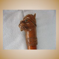 Black Forest Boxer Cane / Walking Stick