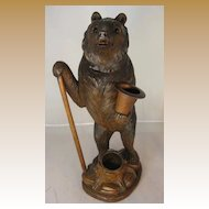 Black Forest Bear Humidor - Large with Cane and Top Hat