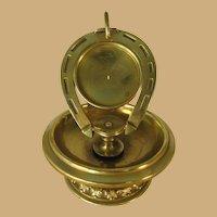 Brass Horse Shoe Pocket Watch Holder