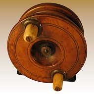 English Wooden Fishing Reel - Early.