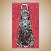 Victorian Cast Iron Paper Clip - c1890.