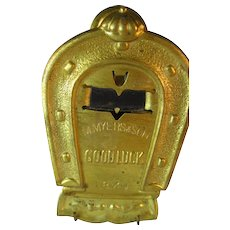 Brass Letter Clip - Equine Motif