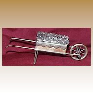 Brass Wheel Barrow Match Holder/Vesta