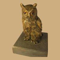Bronze Owl Figure