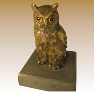 Bronze Owl Figure