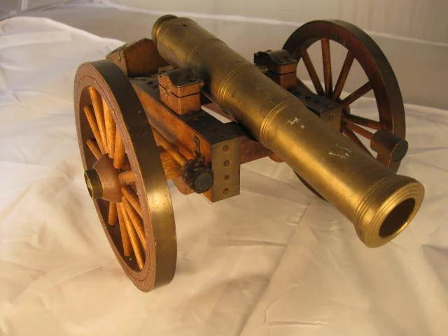 18th century wall breaching cannon model