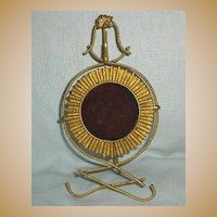 French Gilded Brass Pocket Watch Holder