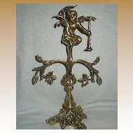 French Brass Cherub Pocket Watch holder  - very large