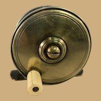 English Brass Fishing Reel