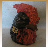 Painted Metal Chicken INKWELL