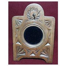 """Black Forest Easel Pocket Watch Holder - Hand Carved """" Arts and Crafts"""""""