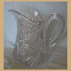 American Brilliant Period Cut Glass Pitcher