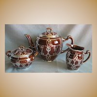 Lenox Silver Overlay Tea Set - 3 Pieces