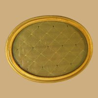 French Gilded Brass Oval Shaped Frame