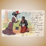 Black Postcard ~ 1905 ~ Moore & Gibson Co. N.Y.