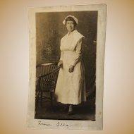 Black Nurse Real Photo Post Card   ~ Azo