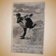 Black Postcard 1907 Arkansas city, Kansas