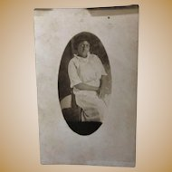 Real Photo Post Card Black Lady sitting