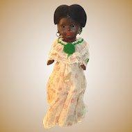 Black Paper Mache Doll 14 inches
