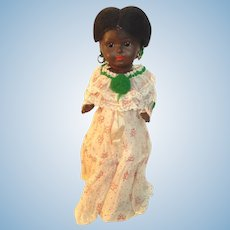 Black Paper Mache Doll 14 inches