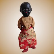 Black doll with cloth body ~ 13 inches (34 cm)