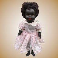 Black Koenig & Wernicke KuW doll ~ Flirty eyes 19 inches RARE Amber Eyes and brown lashes