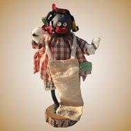 Black folk Americana Crepe paper doll~ Great