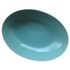 Fitz And Floyd Vintage Oval Serving Bowl In Turquoise