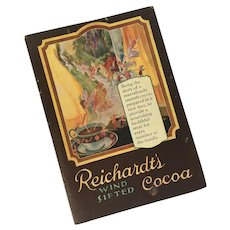Vintage Advertising Cookbook for Reichardt's Cocoa (c) 1926