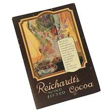 Vintage Advertising Cookbook for Reichardt's Cocoa (c) 1926