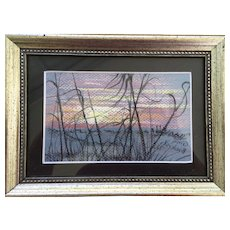 """Beach Grass at Sunset, Destin, Florida"" Pastel Painting By Gina Bickish 4"" x 6"""