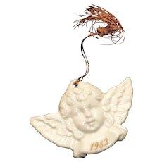 Vintage 1982 Avon Christmas Remembrance Porcelain Angel Ornament