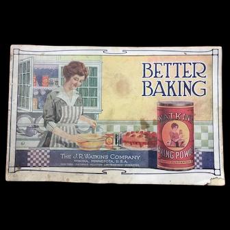 "Vintage J. R. Watkins Advertising Cookbook ""Better Baking"""