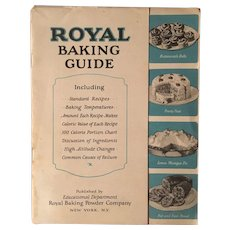 "Vintage Advertising Cookbook (c) 1927: ""ROYAL Baking Guide"""