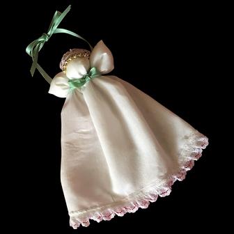 Vintage Muslin Angel Handmade Christmas Tree Ornament