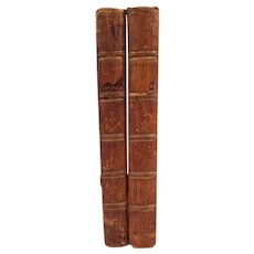 """Unusual Set of Books: """"The Tragedies of Sophocles"""" Printed 1766, Volumes 1 and 2,"""